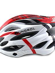 ungrol 23 respiraderos eps + rojo + blanco pc integralmente moldeado del casco en bicicleta (54-64cm)