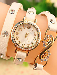 Эбби женщин элегантный горный хрусталь&браслет PU часы