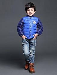 personalidade fashion coringa gola redonda espessamento casaco quente do menino