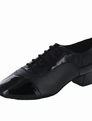 Zapatos de baile (Negro) - Danza latina - Personalizados - Tacón grueso