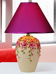 HOSHINE® Vase Pansy Flower Table Lamp 1 Light Novelty Pastoral Style Resin