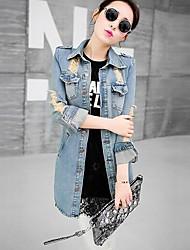 Women's Denim Jacket , Casual Long Sleeve