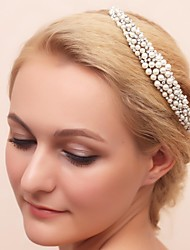 Women's Flower Girl's Alloy Imitation Pearl Cubic Zirconia Headpiece-Wedding Special Occasion Tiaras