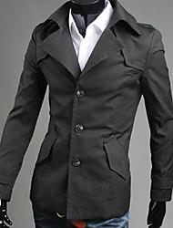 hombres del estilo koreab solapa fina sola capa de pecho