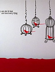 Wall Stickers Wall Decals,  Modern The bird cage PVC Wall Stickers