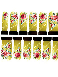 12PCS Rose Pattern Watermark Nail Art Stickers C4-011