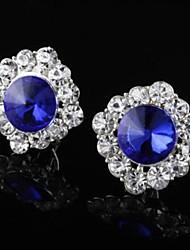 moda diamantes nobles de las mujeres pendientes de la aleación de zafiro