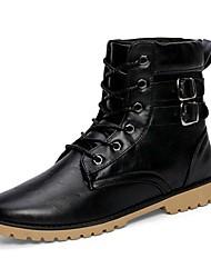 Men's Shoes Outdoor Leatherette Boots Black/Brown