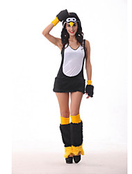 Cute Penguin Black Fluffy Clothes Women's Halloween Costume
