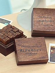 os selos padrão de letras maiúsculas vintage ajustados (28 pçs / conjunto)