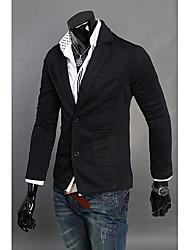 moda de manga longa casaco confortável homens hillgo