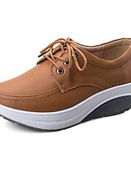 Sapatos Caminhada Feminino Preto / Marrom / Branco Couro