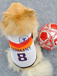 Number 8 Germany Sports Clothes for Pet Dogs (Assorted Sizes)