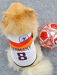 número 8 alemania ropa deportiva para perros (diferentes tamaños)