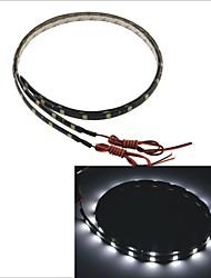 Carking™ 5050-24SMD-60CM Waterproof Car Decorative Lamp Strip-Black (2pcs)