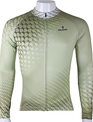 ILPALADINO Cycling Jersey Men's Long Sleeve Bike Jersey Tops Quick Dry Ultraviolet Resistant Breathable 100% Polyester SolidSpring Summer