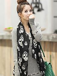 liefde citeert damesmode skell afdrukken zwarte shawl / sjaal 160 * 70cm_1236302050