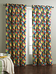 One Panel Curtain Designer , Plaid/Check Living Room Polyester Material Curtains Drapes Home Decoration For Window