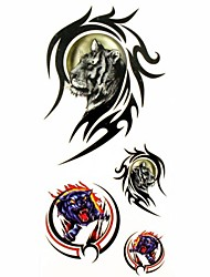 1pc Tiger in Totem Animal Waterproof Tattoo Sample Mold Temporary Tattoos Sticker for Body Art(18.5cm*8.5cm)