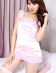 gonna rosa delle donne con le spalla-cinghie abito perizoma lingerie