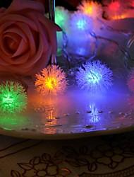 20 levou decoração de natal neve 4m luz pompom rgb impermeável levou luz da corda (220v)