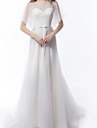 Lanting une ligne robe de mariée - tribunal ivoire train de boule de tulle
