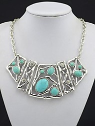 Jewelry Statement Necklaces Wedding / Party / Daily / Casual Rhinestone Women Black / Green Wedding Gifts