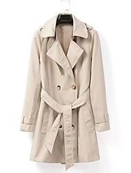 moda doppio petto oltre misura donna con il cappotto cintura trincea lunga