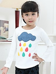 Girl's White / Gray Tee Cotton Winter / Fall