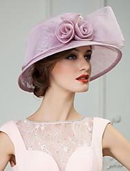 linho encantador com bowknot casamento / festas / lua de mel chapéu