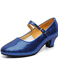 Customizable Women's Dance Shoes Modern Sparkling Glitter Customized Heel Black/Blue/Red/Silver/Gold