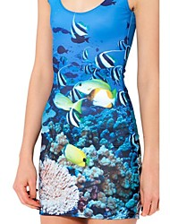 Blue Reef Skater Dress Night Club Uniform