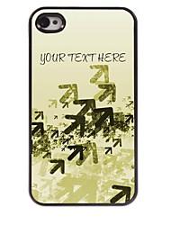 personalizzati cassa del telefono - frecce caso di disegno del metallo per il iphone 4 / 4s