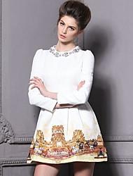 Women's European Fashion Paint Long Sleeve Dress