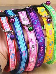 Gatos / Perros Cuello Campana Arco iris Textil
