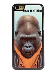 caso de telefone personalizado - caso design de metal orangotango para iphone 5c