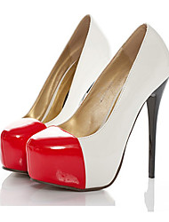 Major Suit Style Noble Split Joint High Heel Shoes White