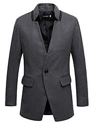 moda um botão casaco cabido dos homens Dibai