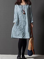 vestido de la media manga floja de k.dama mujeres