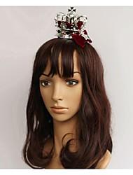 Call Me Queen Silver Alloy Mini Crown Hair Pin Christmas Headpiece