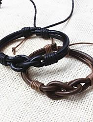 z&X® vintage pulseiras de couro dos homens tibetanos feitos à mão (1 peça, 2 opções de cores: preto, café)