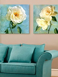 Personalized Canvas Print Chinese Rose 30x30cm 40x40cm 60x60cm Framed Canvas Painting Set of 2