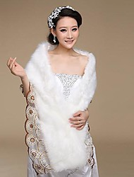 Fur Wraps / Wedding  Wraps Shawls Faux Fur Ivory Wedding / Party/Evening Lace