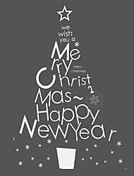 anti-™ lettres artistiques merry christmas fenêtre arbre de Noël de films 60 × 80 cm (1,97 × 2,62 pi)
