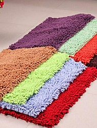 Fashion Solid Shag Chenille Microfiber Skid Floor Carpet Mat 40*60cm