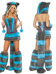 Hot Blue Fox  Fur halloween Costumes Dress
