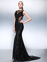 TS Couture® Formal Evening Dress Plus Size / Petite Trumpet / Mermaid Jewel Court Train Sequined