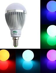 5W E14 LED Globe Bulbs A60(A19) 1 Dip LED 350-400 lm RGB Dimmable / Remote-Controlled / Decorative AC 85-265 V