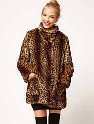 · с · е&F женская мода леопарда имитация шубу