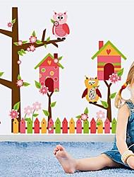 стены стикеры наклейки для стен, родина ПВХ наклейки прекрасной совы